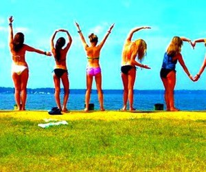 love, summer, and friends image