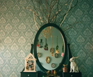 mirror, vintage, and rabbit image