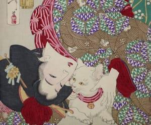 cat, fashion, and art image