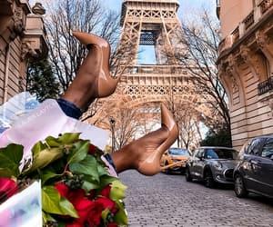 flowers and paris image