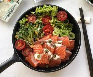 food, fish, and healthy image