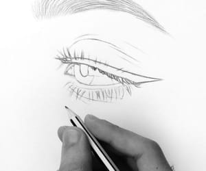 art, eyes, and drawings image