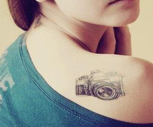 tattoo, camera, and tatto image