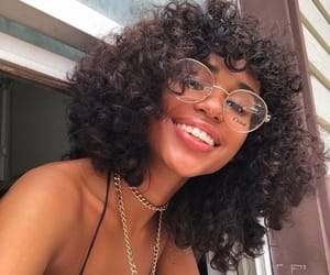 glasses, curly hair, and girls image