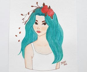 draw, watercolor, and acuarela image