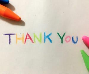 colorful, crayon, and thankyou image