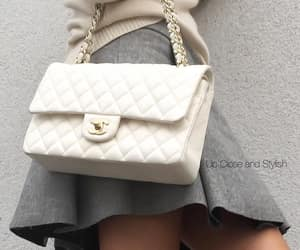 chanel bag, grey, and outfit image