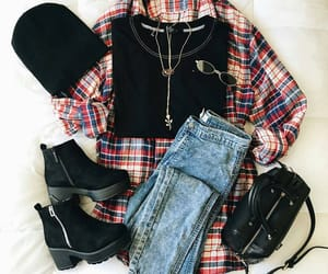 outfit, black, and fall image
