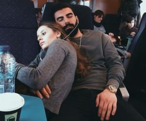 train, traveling, and love image