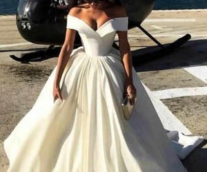 white evening dress image