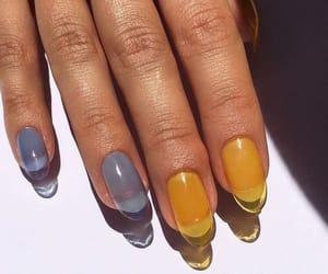 nails, acrylic, and aesthetic image