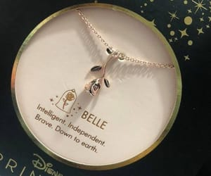belle, disney, and jewelry image
