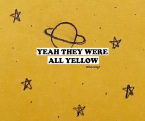 coldplay and yellow image