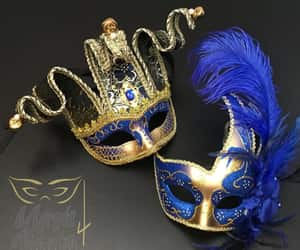masks, masquerade, and feather mask image