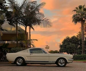 car, sky, and retro image