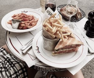 food, drinks, and fries image