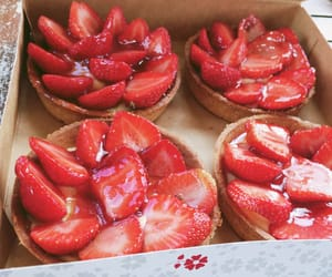 strawberry, tart, and sweets image
