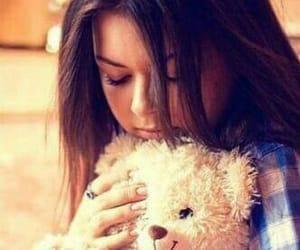 girl and teddy image