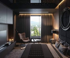 black, home, and bedroom image