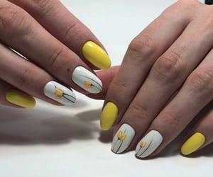 flowers, nail, and nails image