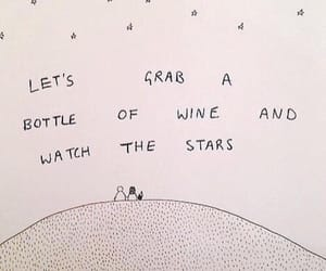 date, stars, and wine image