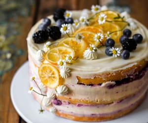 cake, delicious, and style image