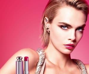dior, model, and lipstick image