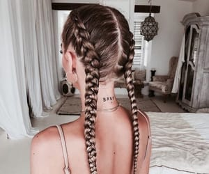 braid, hair, and haircut image