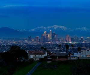 Angeles, blue hour, and buildings image