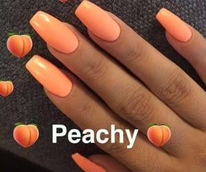nails, girl, and orange image