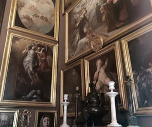 art, castle, and paintings image