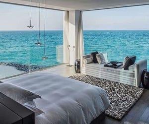 bedroom, sea, and beach image