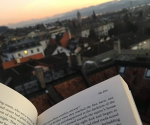 book, mountains, and reading image