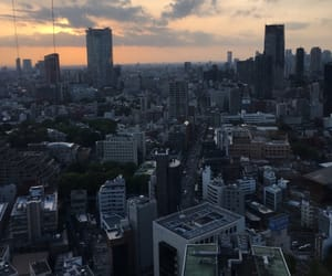 city, high, and japan image
