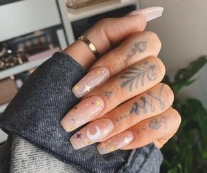 nails, stars, and tattoo image