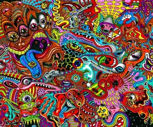 psychedelic, art, and crazy image