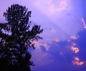 clouds, purple, and light image