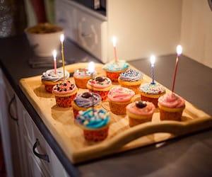 birthday, cupcake, and food image