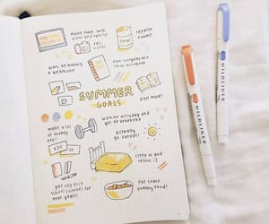 calendar, doodle, and journaling image