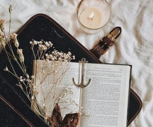 autumn, beautiful, and books image