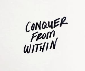 quotes, conquer, and inspiration image