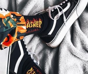 socks, vans, and thrasher image