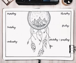 dreamcatcher, lettering, and planner image