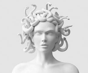 white, medusa, and art image