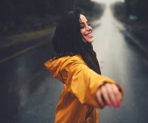girl, road, and smile image