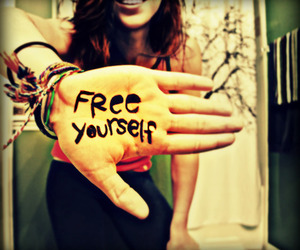 free, hand, and yourself image
