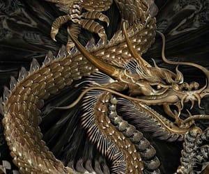 dragon, gold, and theme image