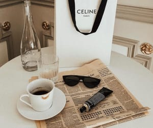 celine, coffee, and fashion image