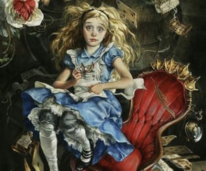 alice in wonderland, mad hatter, and wallpaper image