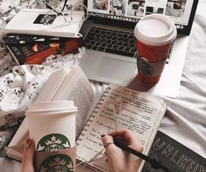 coffee, starbucks, and book image